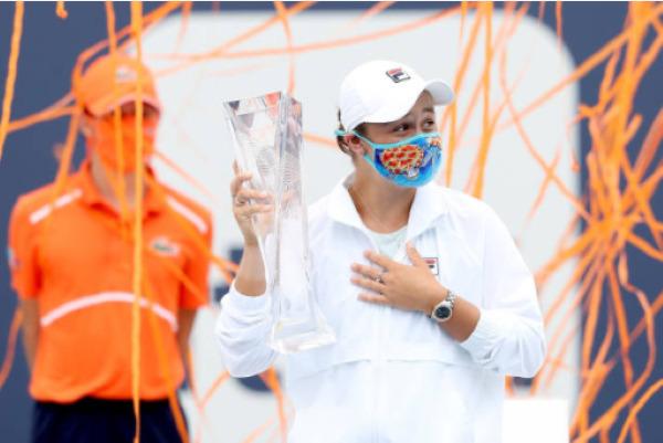 Ashleigh Barty, the champion at the WTA Miami Open.