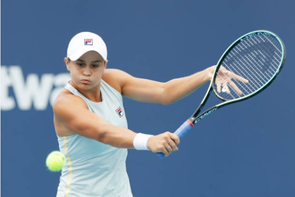 Ashleigh Barty in action ahead of the WTA Charleston Open.