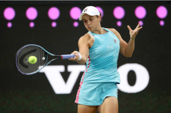Ashleigh Barty in action ahead of the WTA Stuttgart.