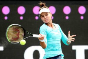 Veronika Kudermetova in action ahead of the WTA Istanbul Cup.