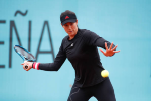 Garbine Muguruza in action at the WTA Madrid Open.