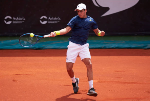 Jaume Munar in action at the ATP Miami Open.