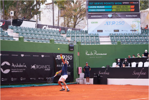 Jaume Munar in action at the ATP Marbella Open.