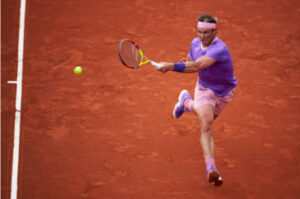 Rafael Nadal in action at the ATP Barcelona Open.