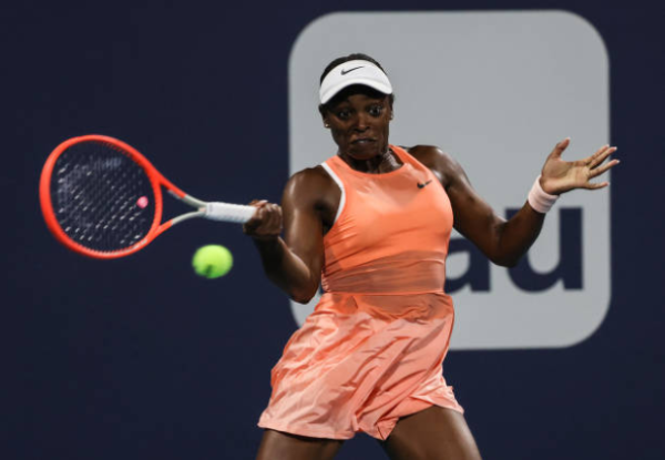 Sloane Stephens in action ahead of the WTA Charleston Open.