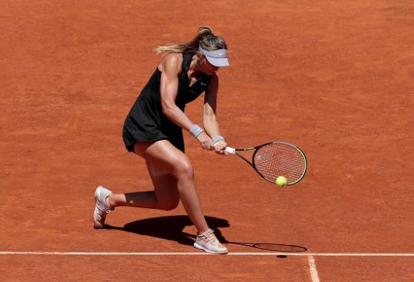 Paula Badosa in action ahead of the WTA Serbia Open.