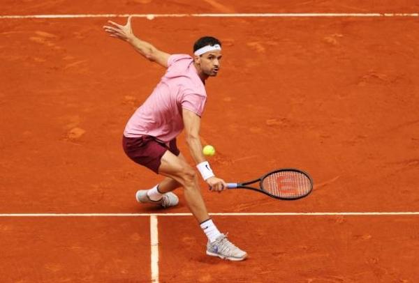 Grigor Dimitrov in action ahead of the ATP Geneva Open.