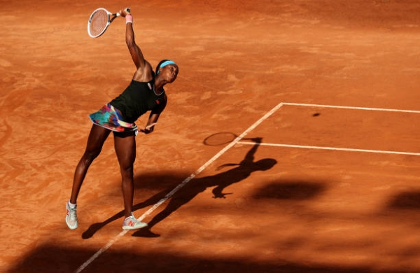 Cori Gauff in action ahead of the WTA Parma Open.