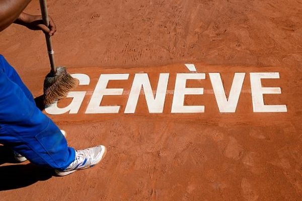 The clay courts at the ATP Geneva Open.