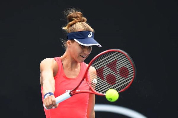 Viktorija Golubic in action ahead of the WTA Saint-Malo Open.