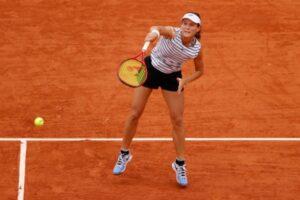 Varvara Gracheva in action ahead of the WTA Saint-Malo Open.