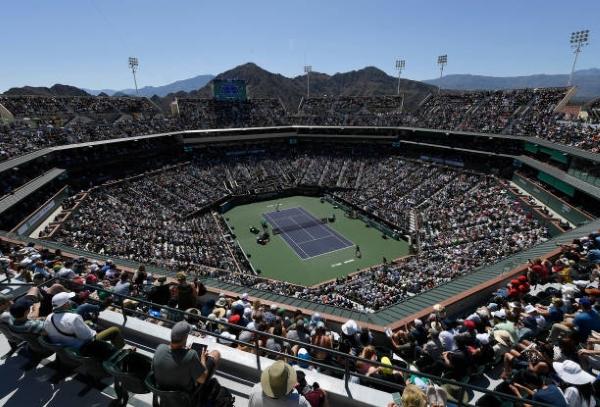 The Indian Wells Tennis Stadium.