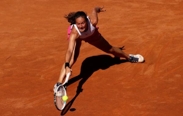 Daria Kasatkina in action ahead of the WTA Parma Open.
