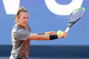 Sebastian Korda in action ahead of the ATP Parma Open.
