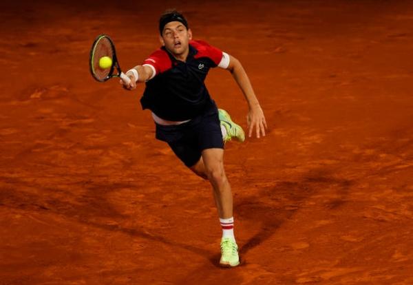Filip Krajinovic in action ahead of the ATP Belgrade Open,