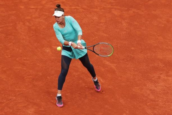 Veronika Kudermetova in action ahead of the French Open.