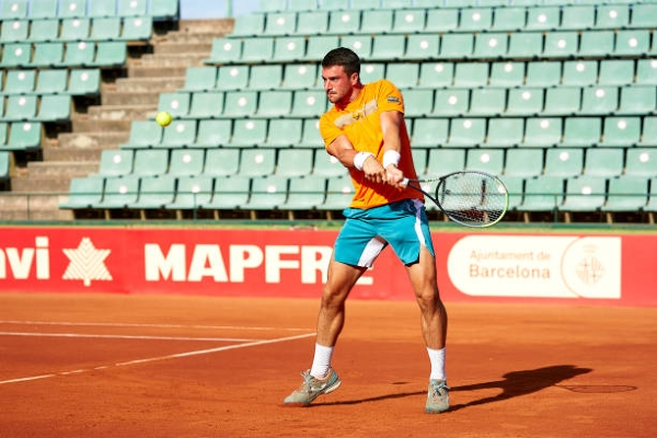 Pedro Martinez in action ahead of the ATP Parma Open.