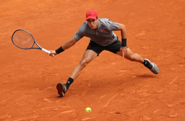 Jaume Munar in action ahead of the French Open.