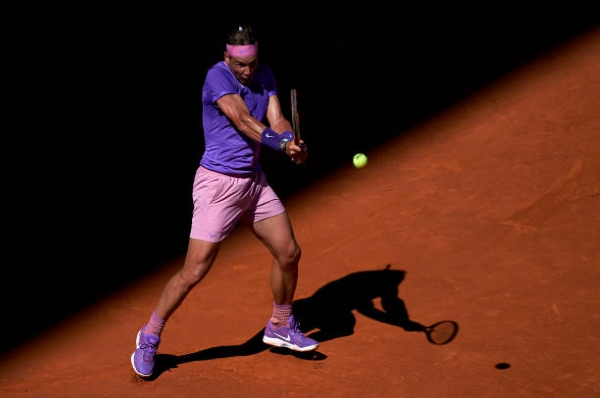 Rafael Nadal in action at the ATP Madrid Open.