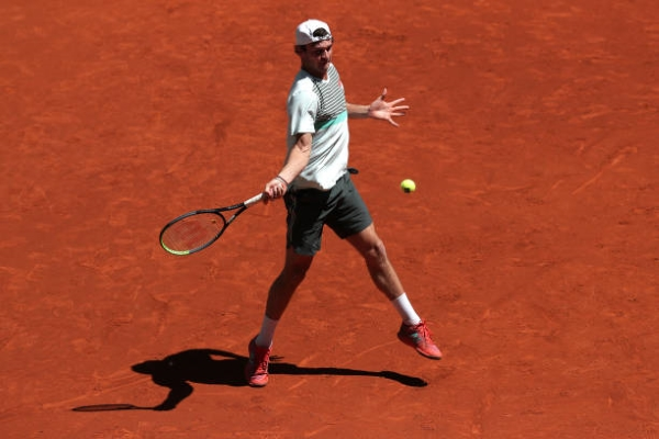 Tommy Paul in action ahead of the ATP Lyon Open.