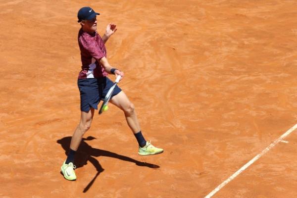 Jannik Sinner in action ahead of the ATP Lyon Open.