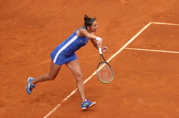 Sara Sorribes Tormo in action ahead of the WTA Rome Open.