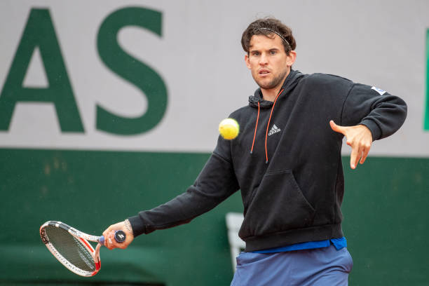Dominic Thiem 2021 French Open Warm Up