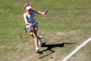Ekaterina Alexandrova in action at the WTA Berlin Open.