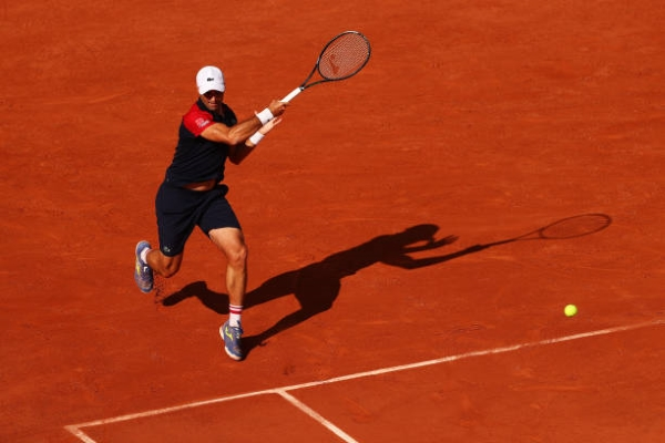 Pablo Andujar in action at the French Open.