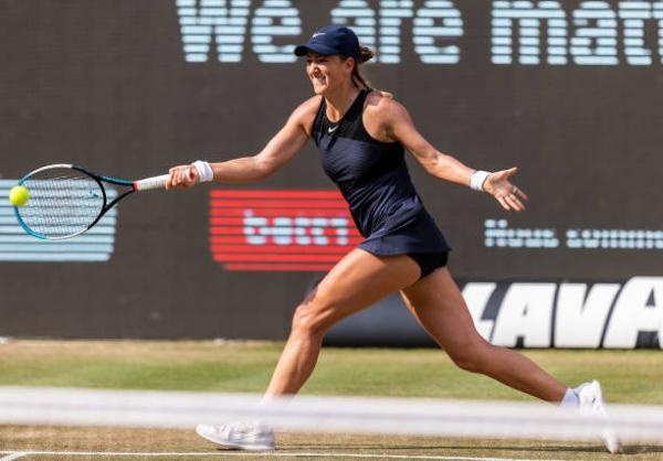 Victoria Azarenka in action ahead of the WTA Bad Homburg Open.
