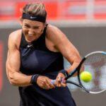 Victoria Azarenka in action at the WTA Berlin Open.