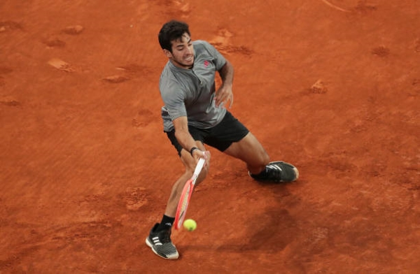 Cristian Garin in action ahead of the French Open.