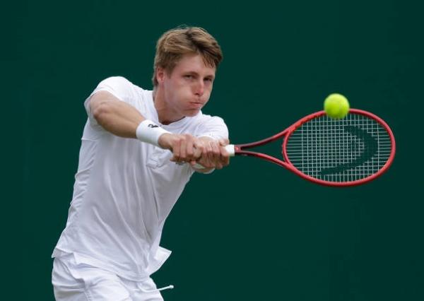 Ilya Ivashka in action ahead of the Wimbledon Championships.