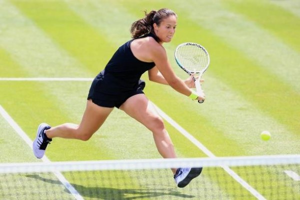 Daria Kasatkina in action ahead of the WTA Eastbourne International.
