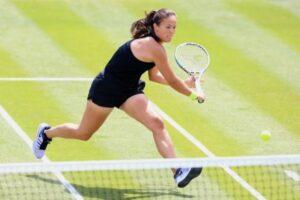 Daria Kasatkina in action at the WTA Birmingham Classic.