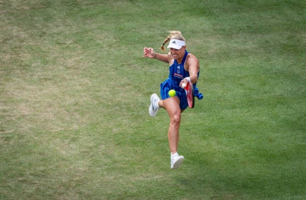 Angelique Kerber in action at the WTA Bad Homburg Open.