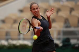 Madison Keys in action ahead of the WTA Berlin Open.