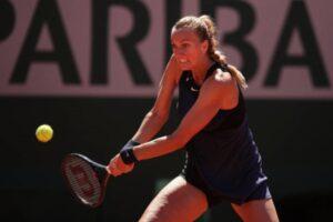 Petra Kvitova, the top seed at the WTA Bad Homburg Open, in action.