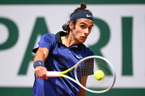 Lorenzo Musetti in action ahead of the Wimbledon Championships.
