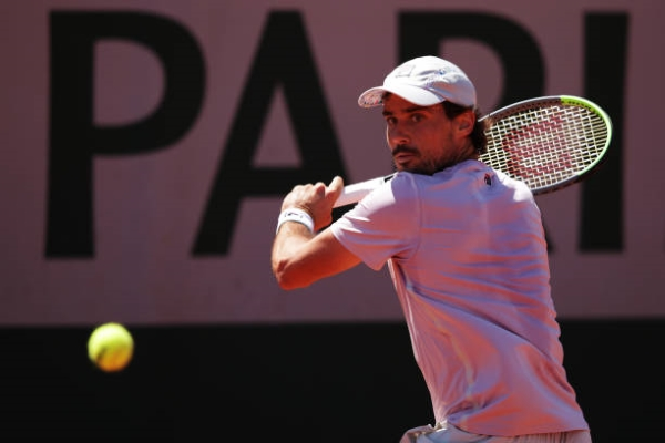 Guido Pella in action at the French Open.