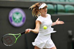 Elina Svitolina in action at Wimbledon.