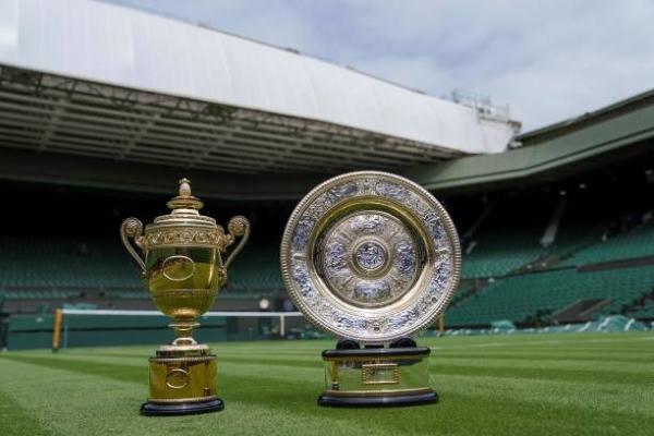 The Wimbledon singles trophies.