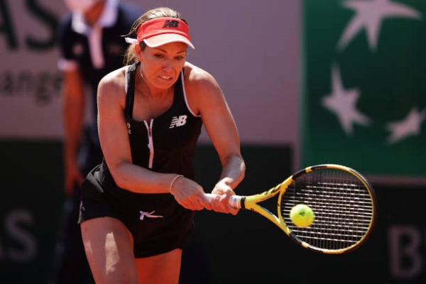 Danielle Collins in action ahead of the WTA Palermo Open.