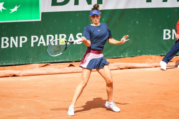 Jaqueline Cristian in action ahead of the WTA Palermo Open.