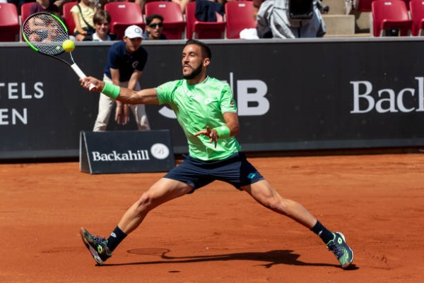 Damir Dzumhur in action ahead of the ATP Umag Open.