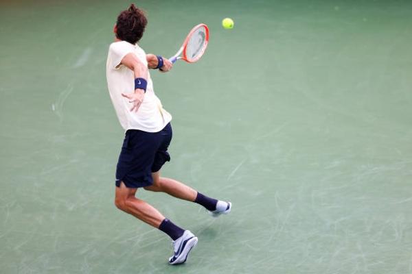 Taylor Fritz in action at the ATP Atlanta Open.