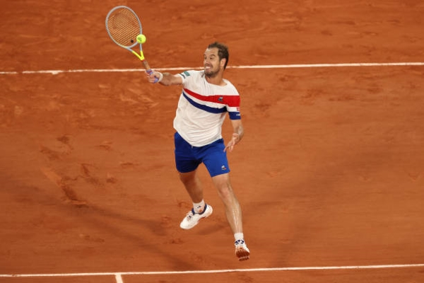 Richard Gasquet in action ahead of the ATP Umag Open.