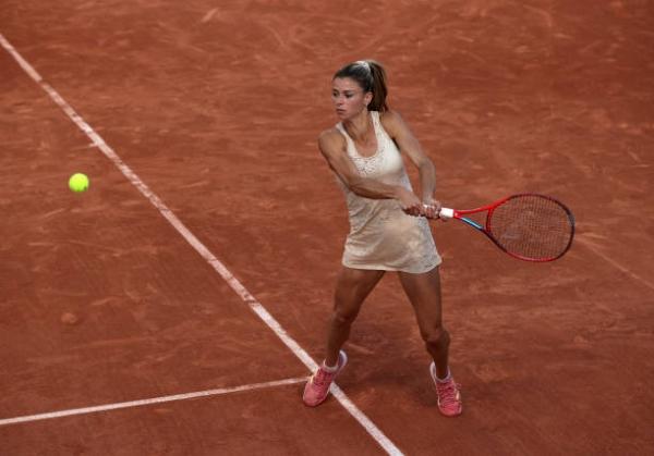 Camila Giorgi in action ahead of the WTA Lausanne Open.