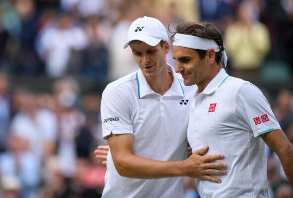 Hubert Hurkacz Roger Federer Wimbledon