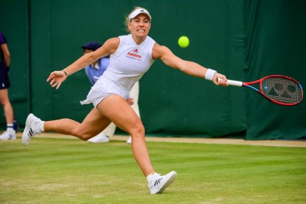 Angelique Kerber in action at Wimbledon.